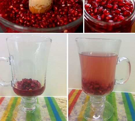Pomegranate Tea Steps