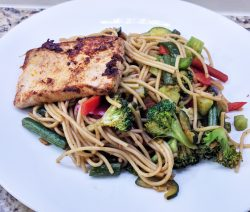Stir-Fried Veggies with Spicy Noodles & Tofu