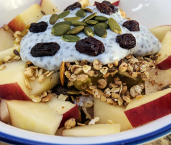 Fruit & Nut Chia Pudding Breakfast