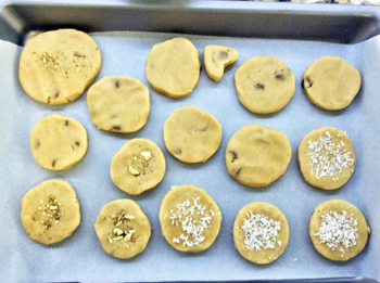 Line Cookies to bake