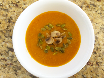 Fresh Pumpkin Soup With Mushroom