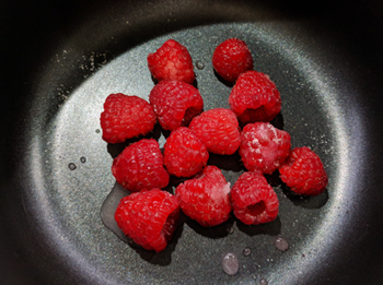Fresh Raspberry Fruit with sweetener