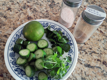cucumber mint coriander lime salt cumin