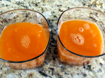 Carrot Orange Ginger Turmeric Juice